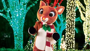 Rudolph the Red-Nosed Reindeer at SeaWorld Orlando Christmas Celebration